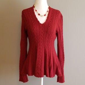 Antonio Melani peplum sweater